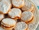 Рецепта Вкусни слепени меки домашни меденки с пълнеж от масло, какао и кафе